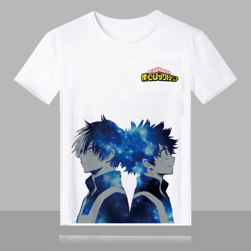 My Hero Academia Boku no Hero   T  -  shirt   Print Short Sleeve Tops Harajuku Yoh Asakura Midoriya Izuku Fancy Tees Unisex   t     shirts