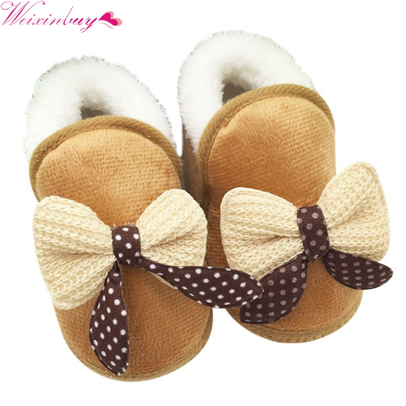 Baby Girls Shoes Toddler Warm First Walker Winter Boots Soft Sole Prewalker Baby Shoes