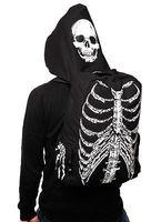 Men Women Unisex Skull Skeleton Printed Bag School Travel Book Bag Gothic Punk Street Style With