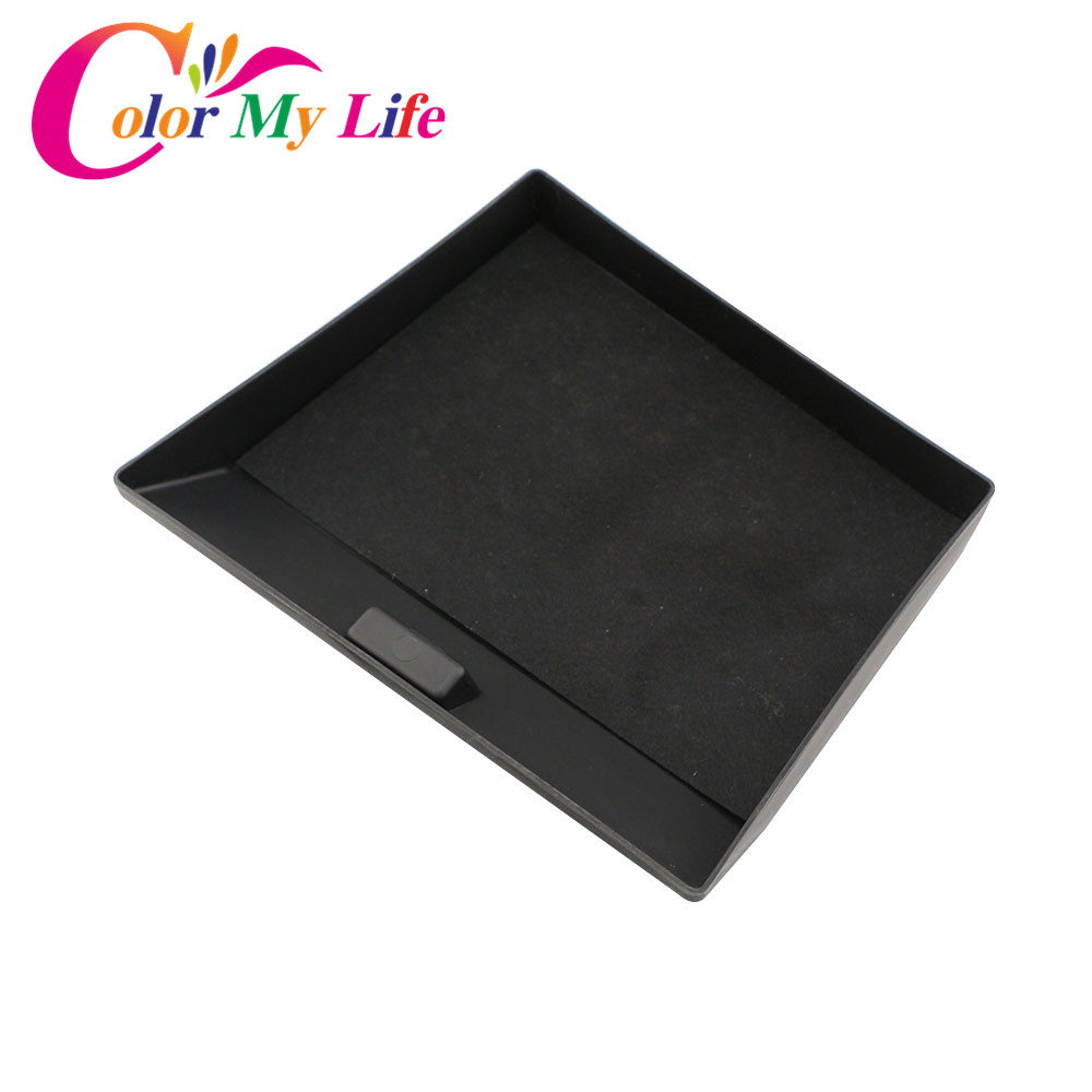 Color My Life Car ABS Glove Box Glovebox Car Storage Box for Ford Kuga Escape LHD 2013 -2017 Accessories