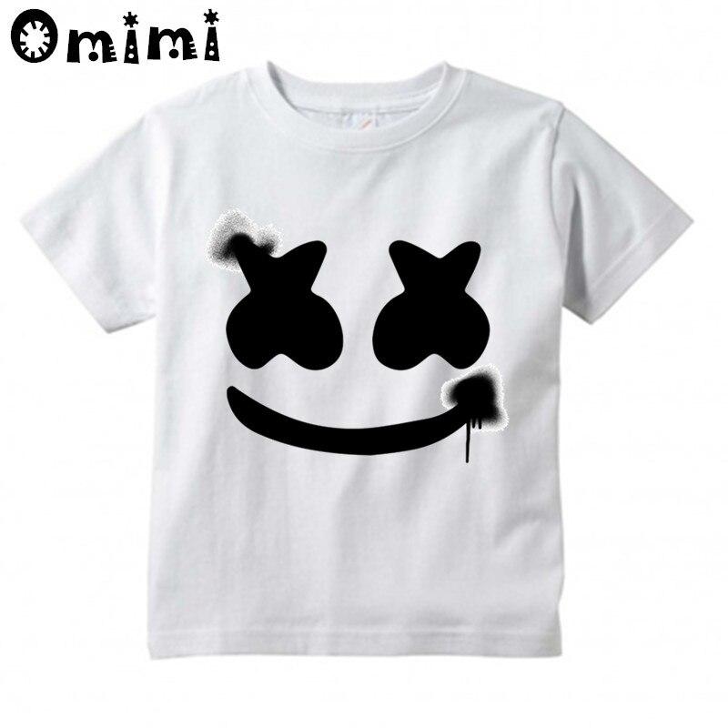 004f88c5e42 Boys Girls DJ Marshmello Design T Shirt Kids Great Casual Short Sleeve Tops  Children s Funny T Shirt-in T-Shirts from Mother   Kids on Aliexpress.com  ...