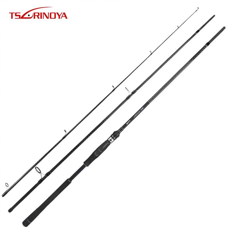 TSURINOYA TIRANNI Spinning Rod 2.4 m 2.7 m 3.0 m 3.3 m Richiamo di Carbonio Canna Da Pesca Pole Distanza di Lancio Asta per Mare Basso Vara De Pesca
