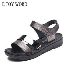 Купить с кэшбэком E TOY WORD 2019 womens summer sandals with strap fashion wild comfortable flat shoes women slip women's shoes