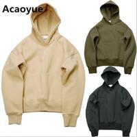 2017 Winter Fleece Hip Hop Kanye West GD Hoodie Sweatshirt Swag Solid Pullover Cotton Good Quality