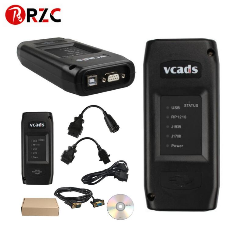 ZOLIZDA Free Ship For Volvo VCADS 2 40 Version for Volvo VCADS Truck Diagnostic Tool for