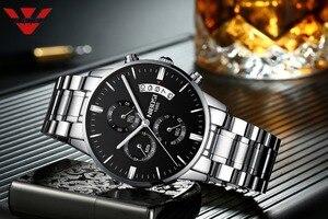 Image 2 - NIBISI умные часы мужские кварцевые наручные часы лучшие брендовые роскошные часы Водонепроницаемый Relogio Masculino best часы для Для мужчин модные серебряные