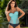 Sexy Push Up Swimwear One Piece Swimsuit 2019 Ladies Mesh Underwire 1 Onepiece Swimming Suit For Women Bathing Suit Plus Size