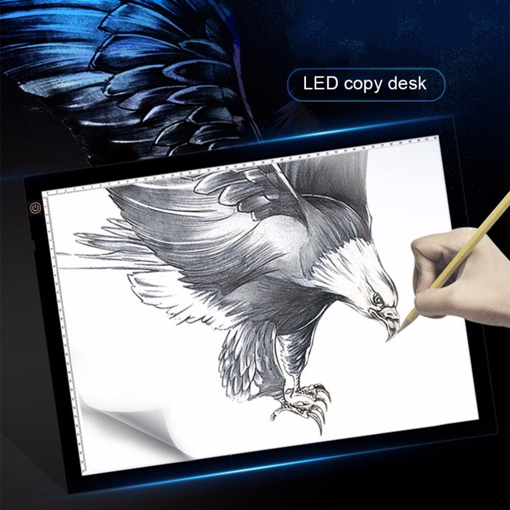 A3 Portable LED planche à dessin Protection de la vue tactile Dimmable traçage Table boîte à lumière pour 2D Animation esquisse