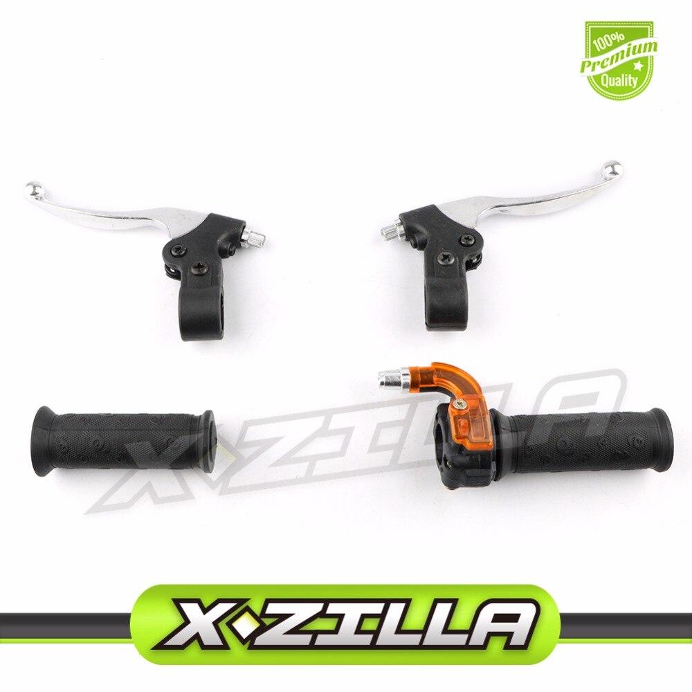 22mm Twist Throttle Grips + De Frein Leviers Set pour 47cc 49cc 2 Temps Mini Moto Dirt Croix Pocket Bike ATV Minimoto Minicross