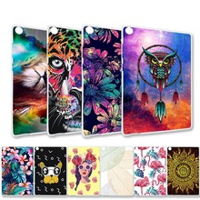 Painted Tablet Case For Asus Zenpad S 8.0 Case Silicone Soft Protective Cover For Asus Zenpad S 8.0 Z580CA Z580C 8.0' TPU Bags new fashion slim transparent frosted tpu silicone case cover for asus zenpad s 8 0 z580 z580c z580ca cover tablet pc