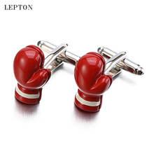 Мужские ювелирные изделия красные боксерские перчатки формы