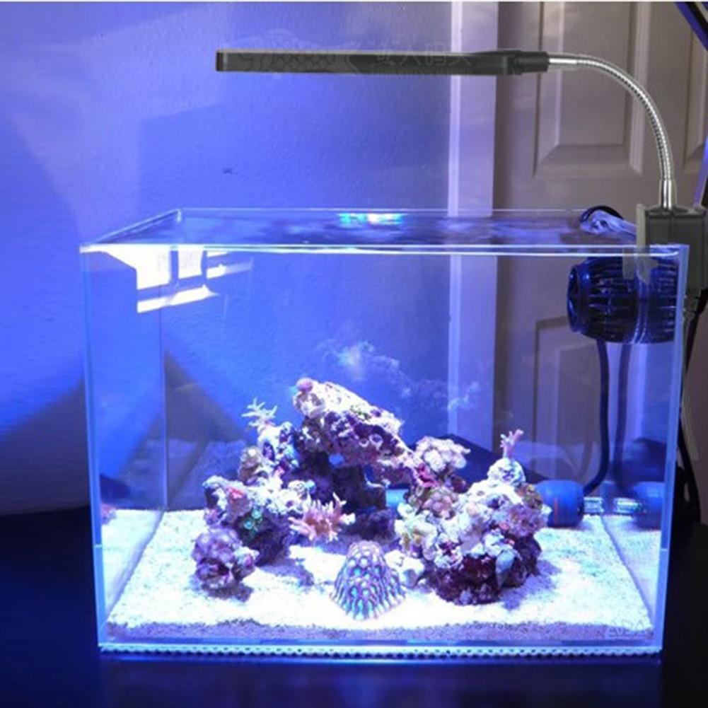 24leds 48leds mini aquarium light lamp abs fish tank for Mini aquarium