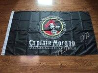 Free Shipping 3x5FT Captain Morgan Rum Banner Flag Sign Bar Decorative Banner Custom Flag Digital Printing