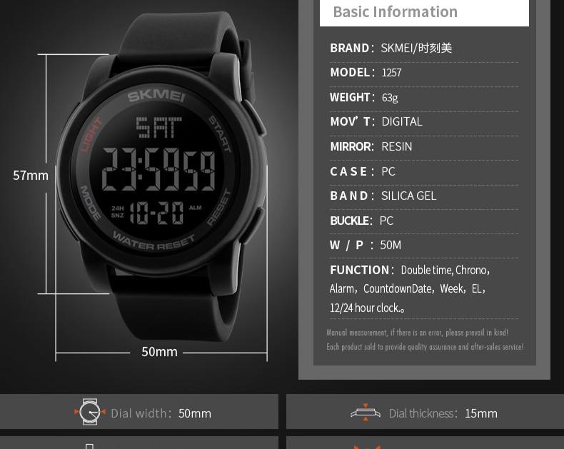 3f352896fc5e SKMEI Men LED Display Digital Watch Sport Watches Relogio Masculino Relojes  Hombre Montre Homme Fashion Waterproof WristwatchesUSD 8.30 piece