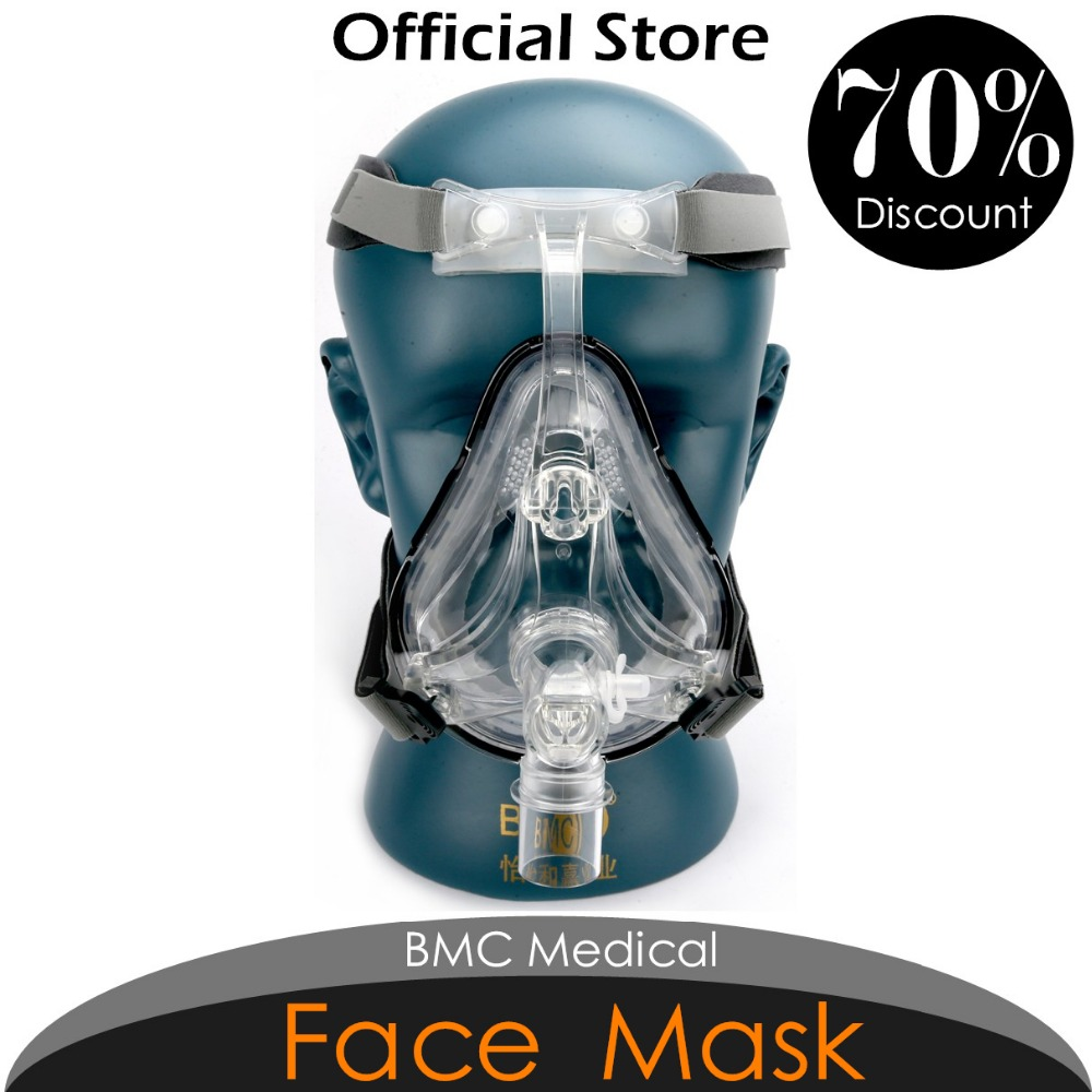 Doctodd FM1 Full Face Mask CPAP Auto CPAP BiPAP Mask With Free Headgear White S M L for Sleep Apnea OSAHS OSAS Snoring People in Sleep Snoring from Beauty Health