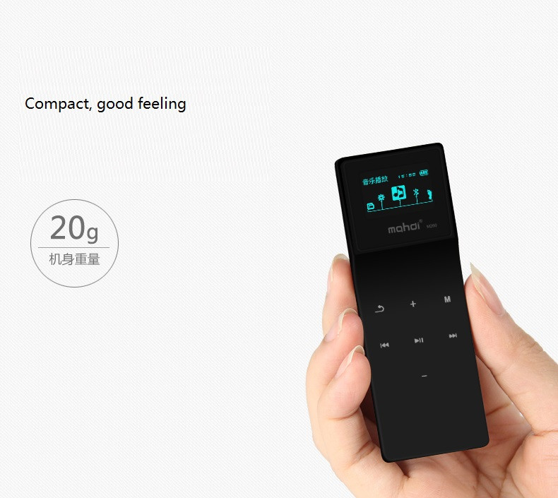 Mahdi Bluetooth MP3 Player 8G Lossless Music Player Touch MP3 24 Languages With Pedometer Recorder E-book Sport Clip Armband  (7)