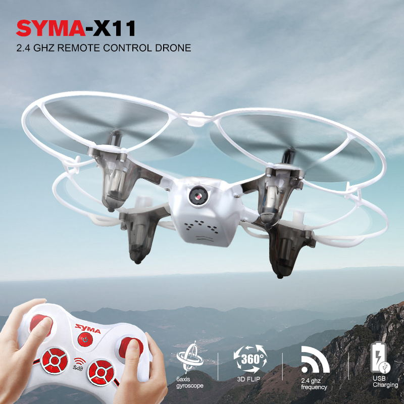 цена на Original SYMA X11 Quadcopter RC Drone 2.4G 4CH Remote Control Mini Dron RC Helicopter With Flash Lights Toys For Children Gift