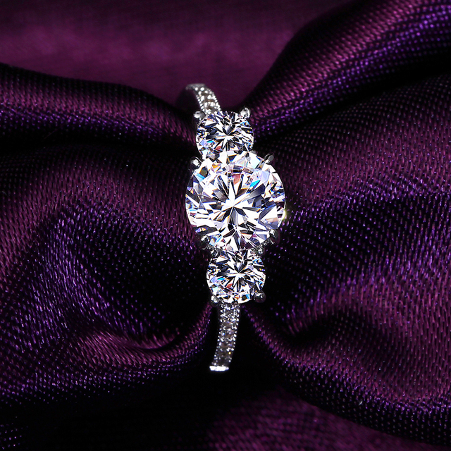 DreamCarnival1989 Sparkling CZ Rings for Women Jewelry Anniversary Gift Rhodium Color Anel bagues femme Engagement Ring SJ24774R