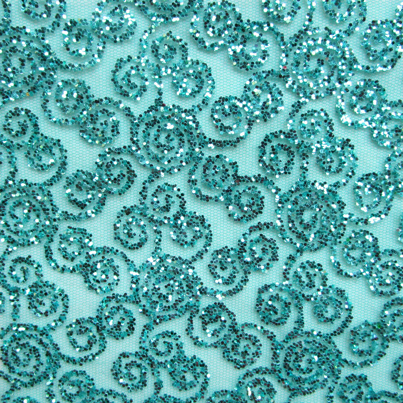 4 yards fashion india peacock green gold glitter net fabric shining sequin  evening dress french lace fabric printed sewing cloth 2a1706cb63cc