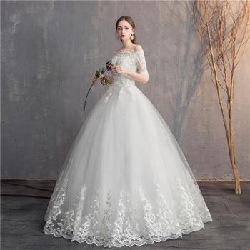 Do Dower Half Sleeve Vintage Wedding Dresses 2019 Off Should Embroidery Vestidos De Noivas Plus Size Bridal Ball Gowns 2