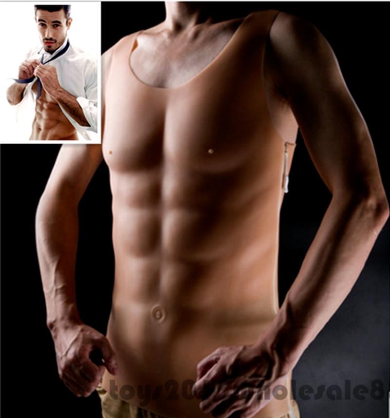 Poitrine bossue Muscle pour boxe entrainement homme Silicone faux poitrine Pecloralis cosplay - 2
