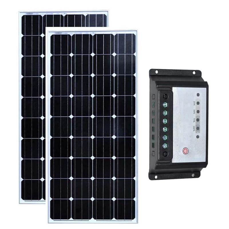 kit panneau solaire 24v 300w solaire maison 150w solar. Black Bedroom Furniture Sets. Home Design Ideas