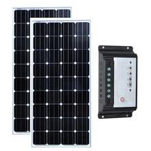 Kit Panneau Solaire 24v 300w Maison 150w Solar Charge Controller 12v/24v 20A Camping-Car Caravane Rv Carregador