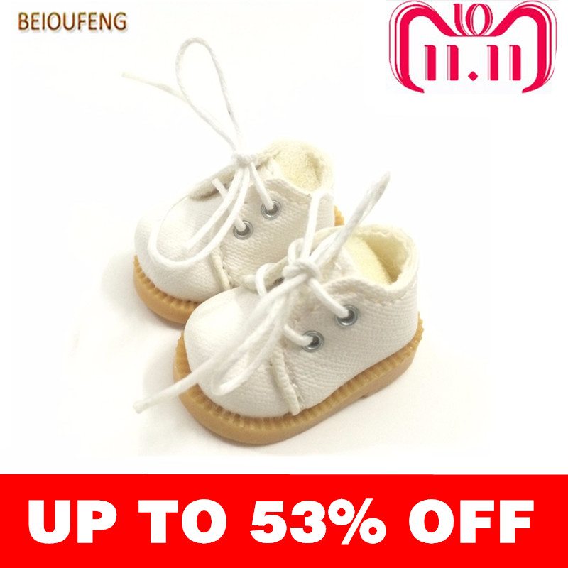 BEIOUFENG 3.8CM Fashion Doll Shoes for Blythe Doll Toy,Mini Gym Shoes Sneakers for Dolls,BJD Doll Footwear Sports Shoes 6 Pair цена