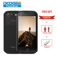 DOOGEE S30 IP68 Smartphone MT6737 Quad Core 5.0 HD Cell Phone 2G RAM 16GB ROM Dual Camera 8.0MP 5580mAh 4G LTE Fingerprint Phone