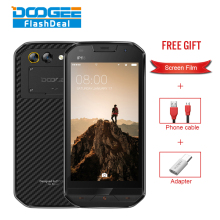 DOOGEE S30 IP68 Smartphone MT6737 Quad Core 5.0 HD Cell Phone 2G RAM 16GB ROM Dual Camera 8.0MP 5580mAh 4G LTE Fingerprint Phone