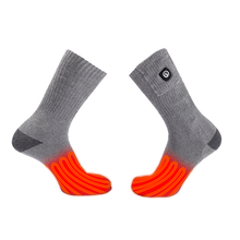 SAVIOR 7.4V Heating Socks 2200mah polymer Battery Cotton Soft Sock Men Women outdoor sports winter keep warm high tech 3 levels цены онлайн