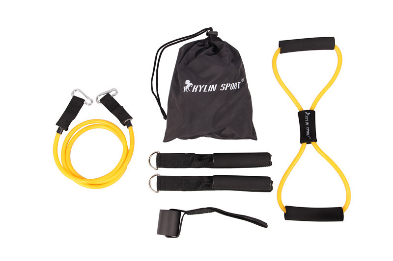 6gab. Bērnu pretestības joslas elastīgo vingrinājumu komplekts fitnesa caurule jogas treniņš vairumtirdzniecībā un bezmaksas piegādē kylin sport