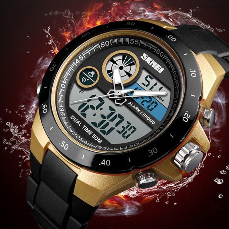 1af6a094ec6 Comprar Mens Relógios Top Marca de Luxo Moda Casual Relógio Militar Men  Sport Watch Relogio masculino Masculino Relógio À Prova D Água SKMEI 2018  Baratas ...