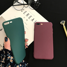 Soft Silicon Case For iPhone X 8 7 Plus 5 5s SE Cases 6 6s Candy Color Matte TPU Back Cover Coque Women