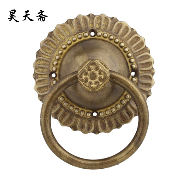 [Haotian vegetarian] Antique Door cymbals 13cm / Chinese antique door knocker door handle shop first classical pull ring[Haotian vegetarian] Antique Door cymbals 13cm / Chinese antique door knocker door handle shop first classical pull ring