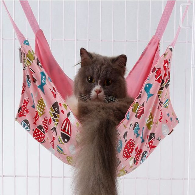 cartoon fish pattern cat hammock spring and summer switching use cat cage hammock small pet dog cartoon fish pattern cat hammock spring and summer switching use      rh   aliexpress