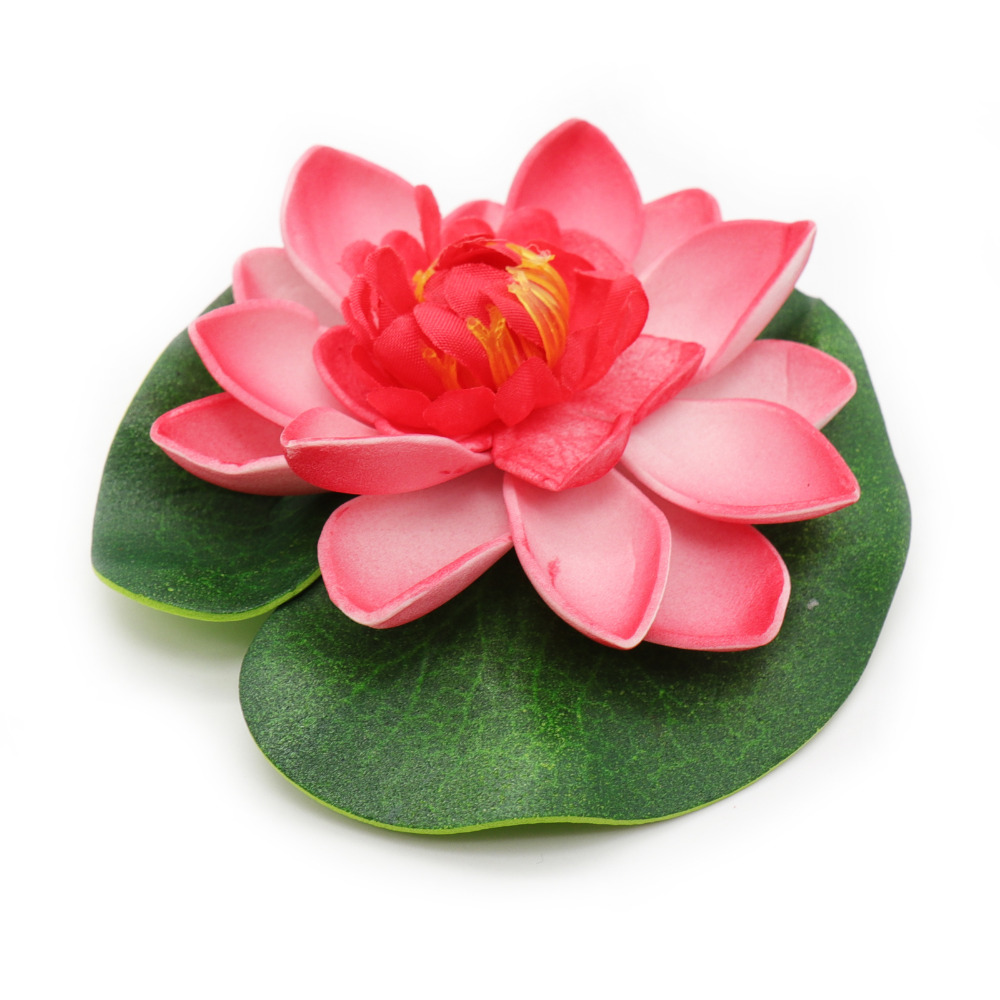 5pcs Real Touch Artificial Lotus Flower Foam Flowers Pond Tank Plant