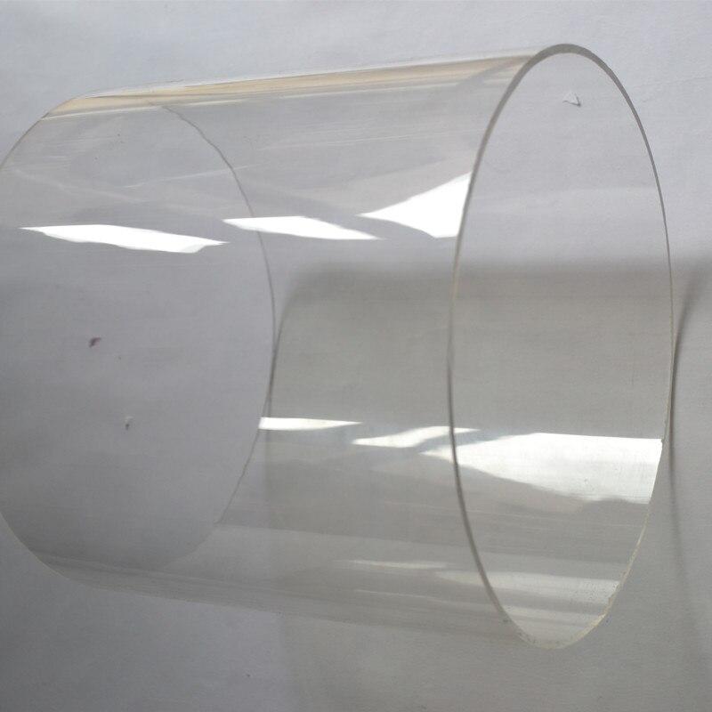 2шт OD200x10x1000mm акриловая трубка Пластик PMMA большое литье воды чистая труба на заказ деловое украшение промышленности имеет много размеров