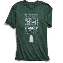 Men Letter T Shirt Funny Saying Tshirt Ghost Motivational Speaker Summer/Autumn Cheap Short Sleeve Cotton O-Neck Adult T-shirts