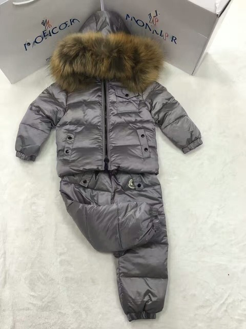 На продажу Snown Костюм Девушки вниз пальто мальчики пуховики + брюки девушки утка вниз Меха с капюшоном пальто детей верхняя одежда известный