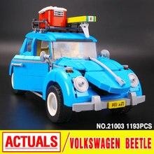 2016 LEPIN 21003 Véritable Créateur Techinc Série Ville Voiture Volkswagen Beetle modèle Assemblage de Blocs de Construction Compatible Jouet 10252