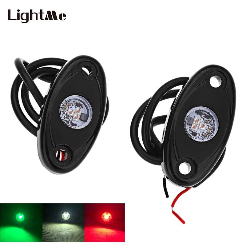 1 парные 9 Вт 2 дюймов автомобилей Палуба свет шасси лампы IP67 Водонепроницаемость RGB Цвет автомобиль декоративный свет