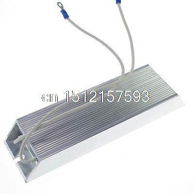 (1) 100W 10ohm Aluminum Housed Braking Resistor Wire Wound Resistor 100w 300 ohm 5% aluminum screw tabs resistor gold tone
