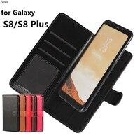 Prime Carte Support De Couverture Étui En Cuir Flip Cas Pour Samsung Galaxy S8 Plus et S8 Photo Cadre Mode De Shell De Téléphone (2 en 1)