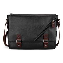 0ecfa5aaf29 VICUNA POLO High Quality Black Leather Bag Mens Messenger Bag Double hasp  Open Satchel Fashion Men's Shoulder Bag Large Capacity