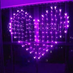 2 x 1.5 м форме сердца 128 СМД 34 бабочка многоцветный из светодиодов строка праздник рождество свадьба Decoracao занавес свет ес / сша / великобритани...