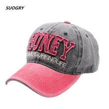 SUOGRY New MenS Cap Washed Baseball Caps For Men Streetwear Women Dad Hat Snapback Embroidery Casual Casquette Hip Hop