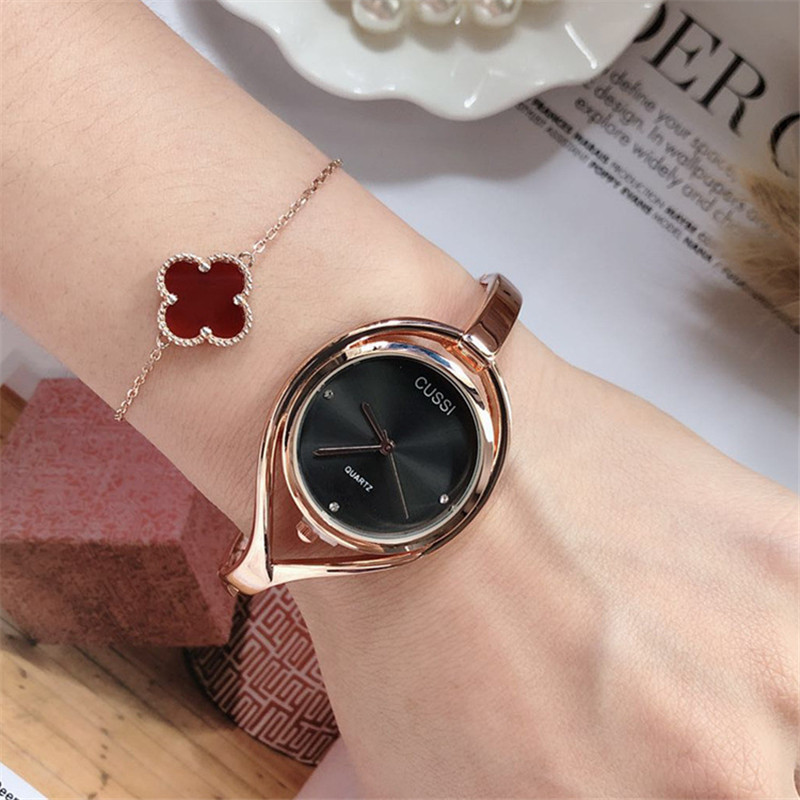 Luxury Brand Cussi Women's Bracelet Watches Rose Gold Ladies Watch Fashion Quartz Wristwatch Relogio Feminino Reloj Mujer Clock