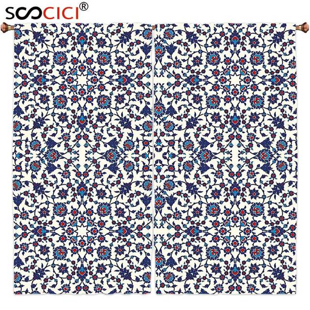 window curtains treatments 2 panelsarabesque moroccan floral pattern with victorian rococo baroque oriental design
