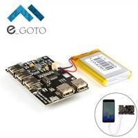 Power Supply Board Module USB HUB Lithium Battery Module 5V 2A For Raspberry Pi 3 Zero